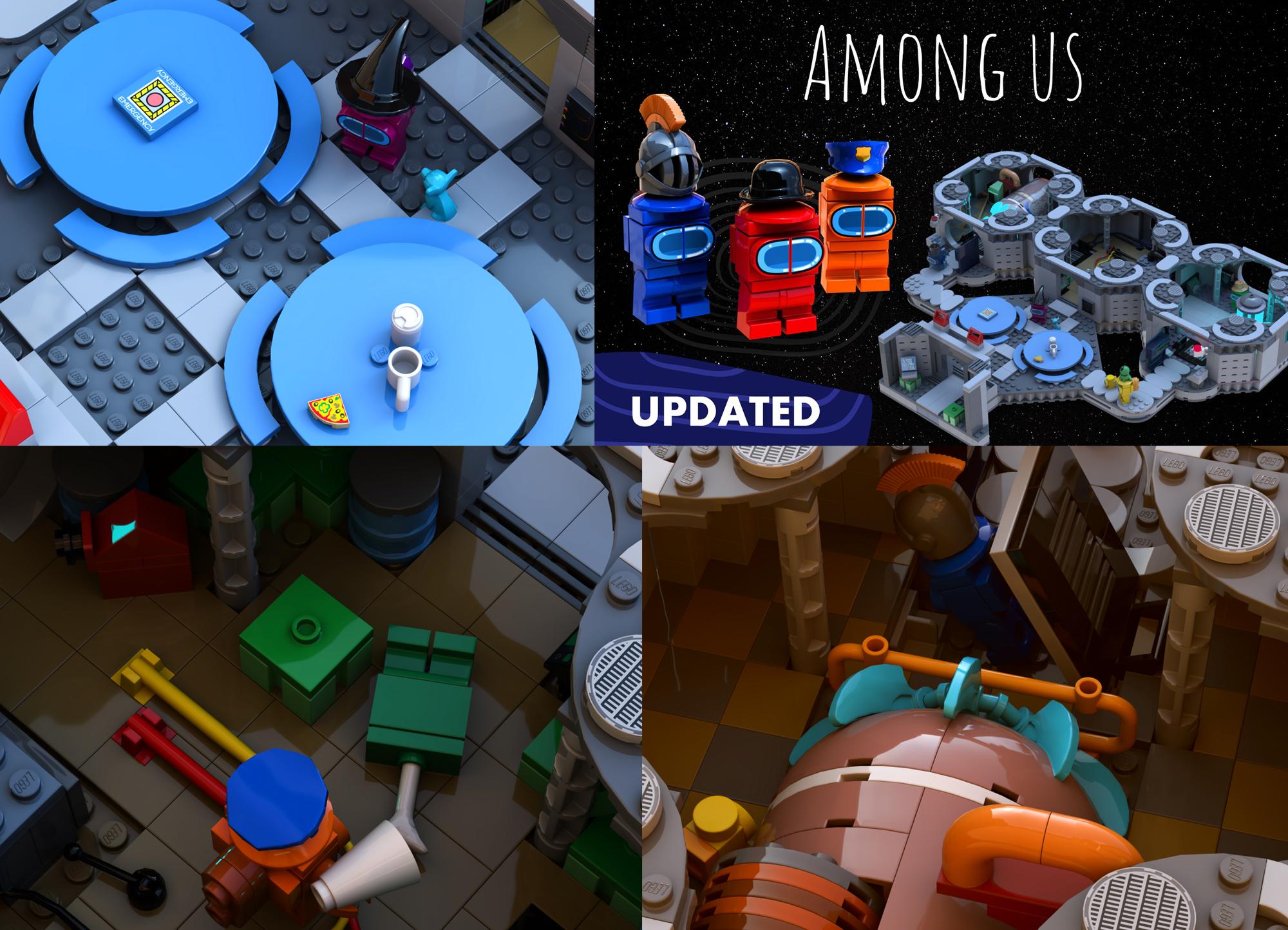 レゴアイデアで『アマング・アス(Among Us)』が製品化レビュー進出!2020年第3回1万サポート獲得デザイン紹介