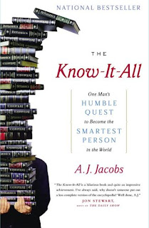 THE KNOW-IT-ALL: ONE MAN'S HUMBLE QUEST TO BECOME THE SMARTEST PERSON IN THE WORLD - BOOK COVER