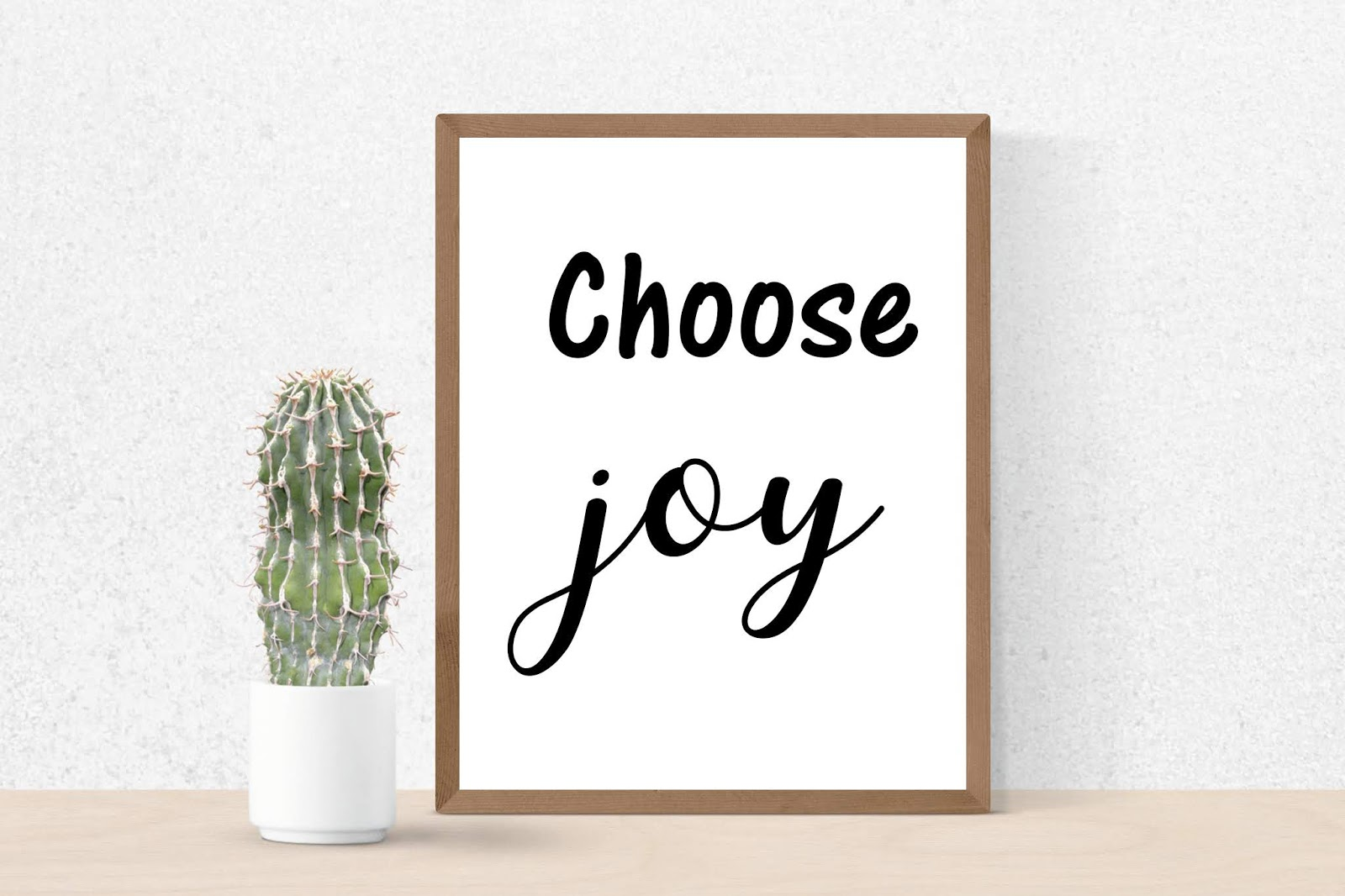 graphic regarding Printable Poster identified as Come to a decision contentment. Printable Wall Artwork Poster Typography Print