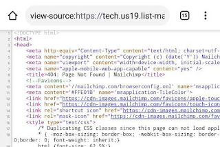 Html code of webpage displayed in browser