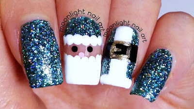Christmas Nails: Santa Claus Nail Art