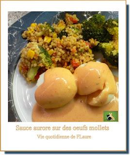 Vie quotidienne de FLaure : Sauce aurore nappe des œufs mollets (au robot Kenwood)