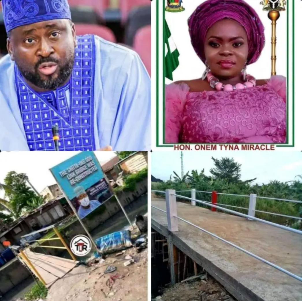 Photos of Bridge Built by Desmond Elliott Vs One Built by Female Councillor Trends Online