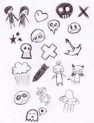 drawings cartoon things background easy cool drawing emo stuff spooky goth clipart drawn simple sketches kawaii deviantart random animal girl101