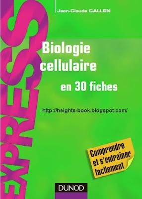 Télécharger Livre Gratuit Biologie cellulaire cours en 30 fiches pdf