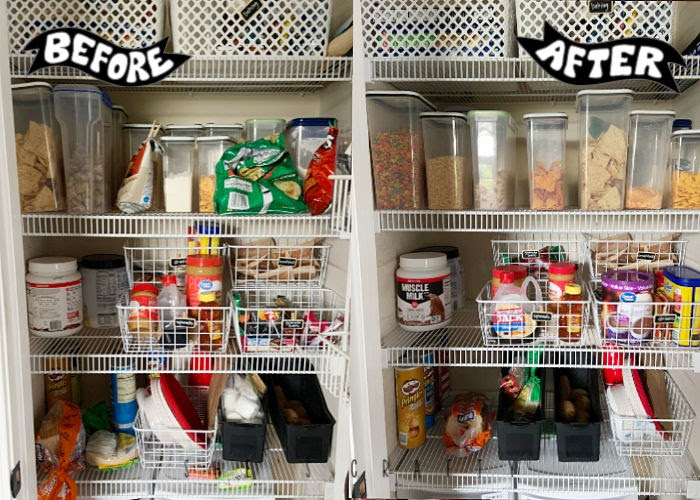 How can I stop being angry or frustrated - clean out pantry, organize cupboard