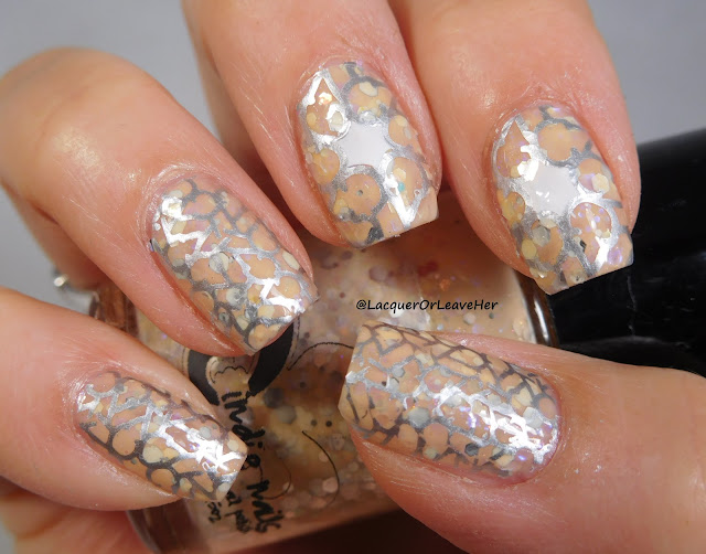 UberChic Beauty 20-02 over Jindie Nails Mango With The Flow