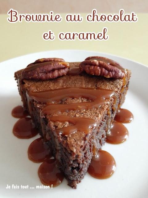 Brownie au chocolat et caramel au beurre salé