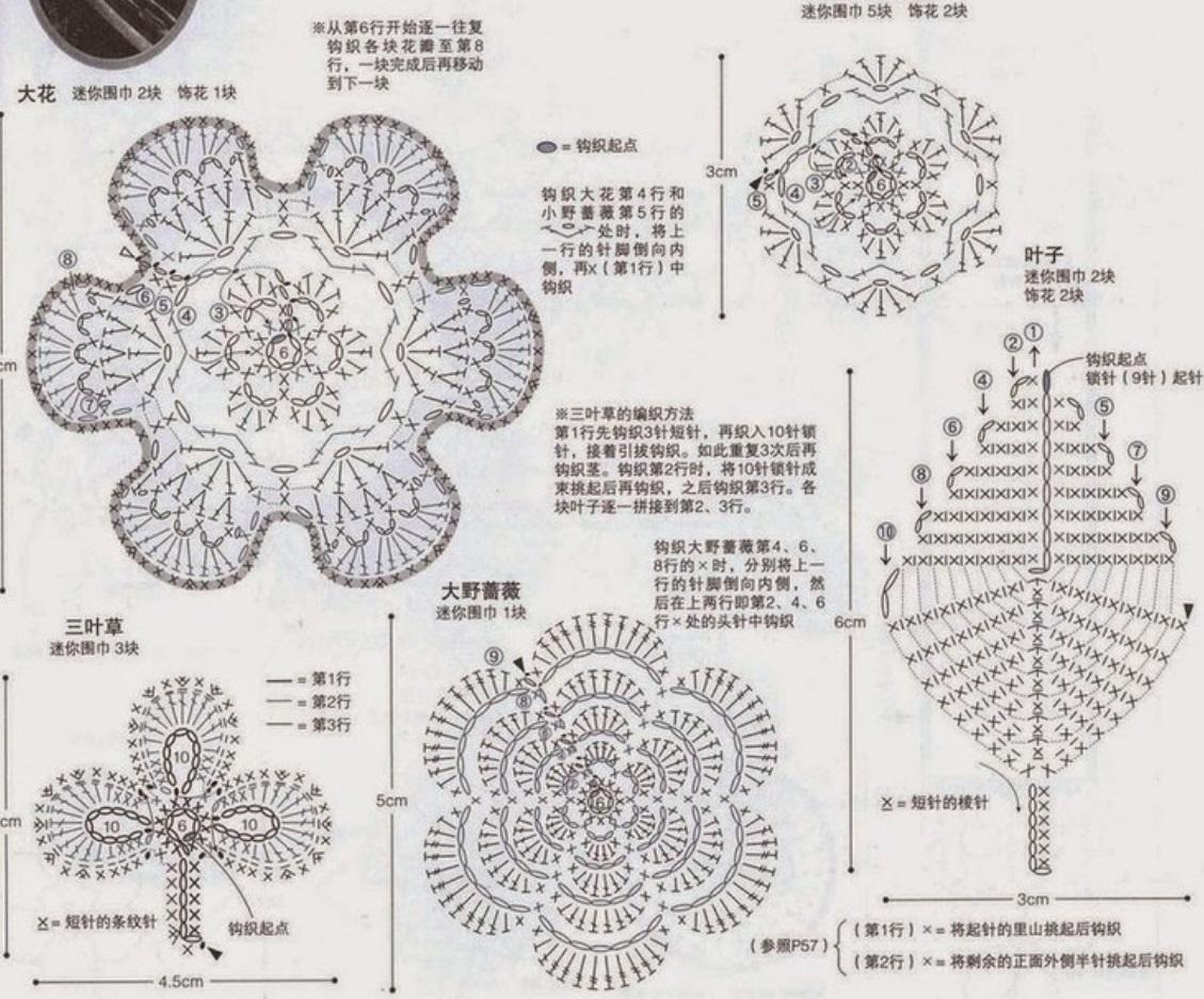 Ergahandmade Crochet Flower Diagrams