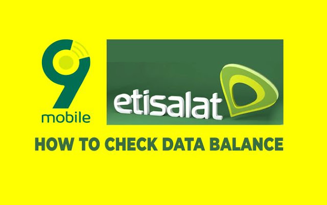 HOW TO CHECK ETISALAT DATA BALANCE