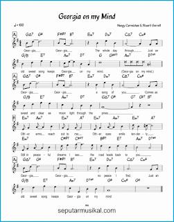 chord georgia on my mind lagu jazz standar