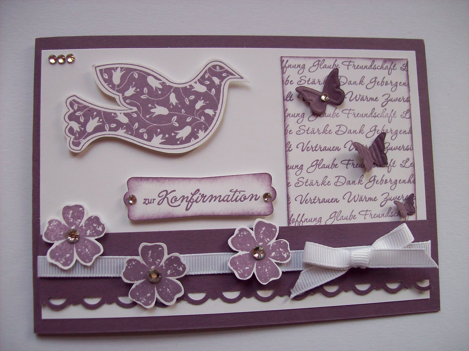 kreativ am deich konfirmationskarten mit stampin up. Black Bedroom Furniture Sets. Home Design Ideas