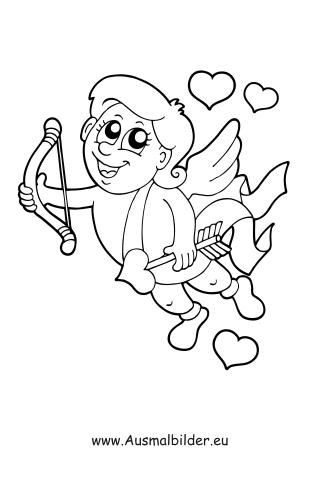 ausmalbilder valentinstag - malvorlage