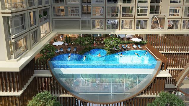 Bể bơi vô cực tại Hinode City