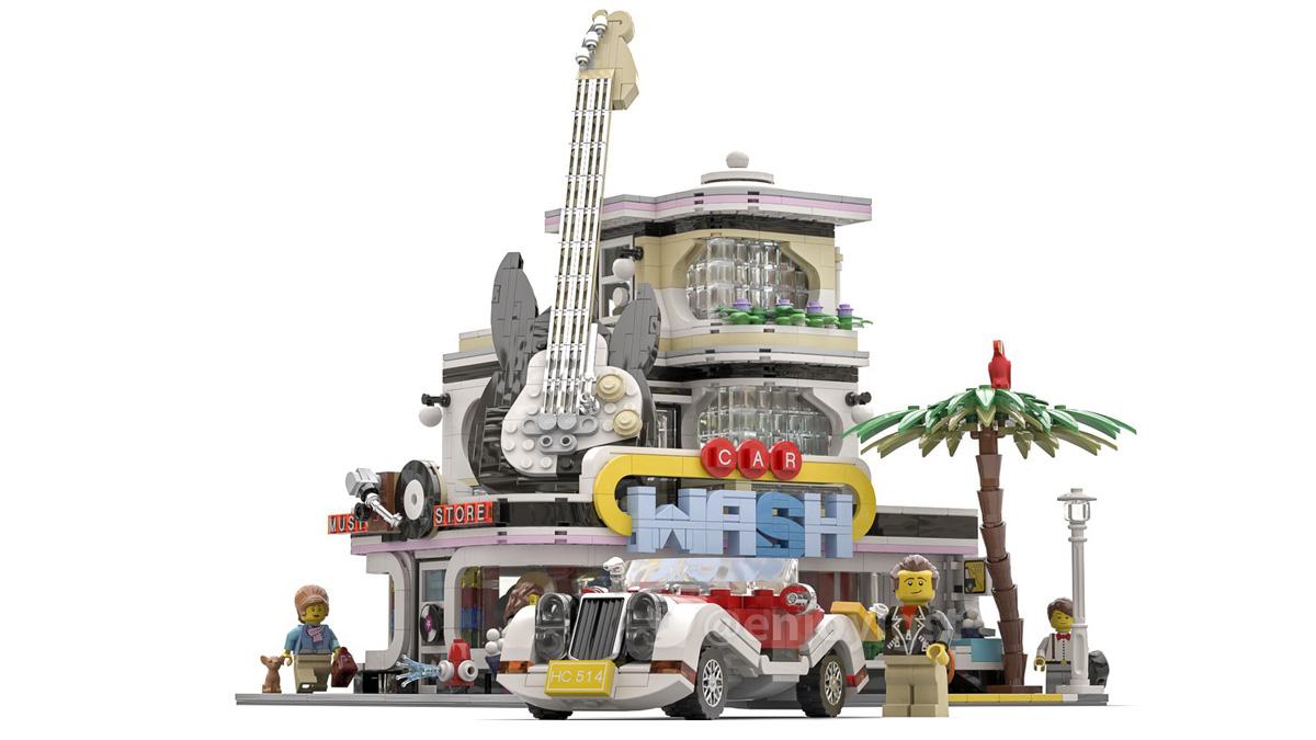 レゴアイデアで『カーウォッシュ』が製品化レビュー進出!2020年第3回1万サポート獲得デザイン紹介