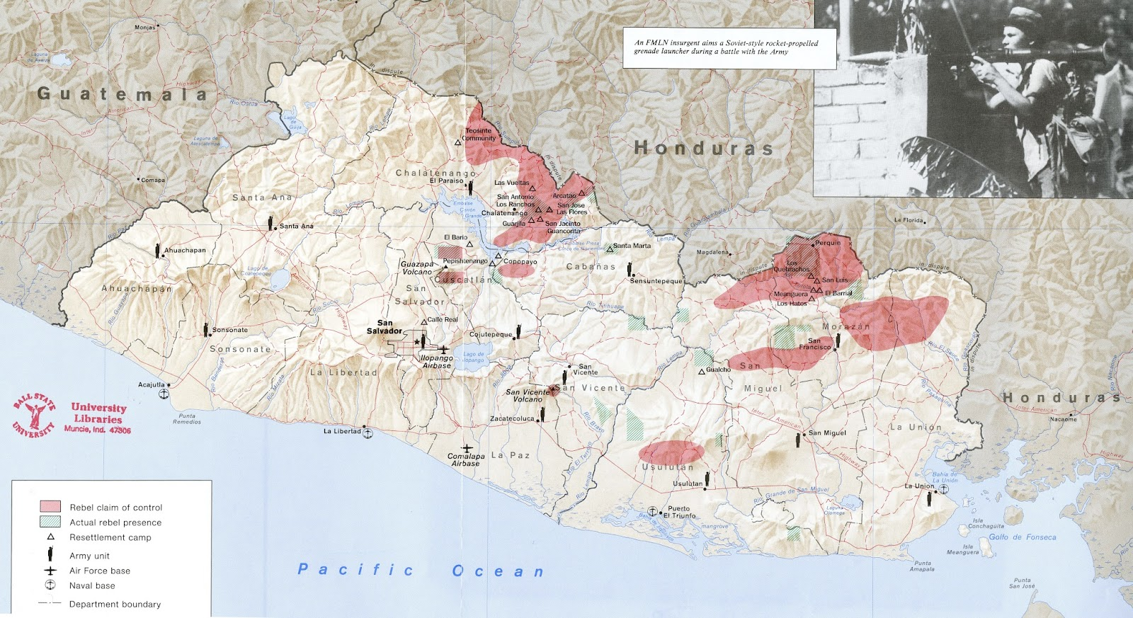el salvador and immigration maps available from ball state university libraries