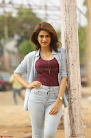 Shraddha Das in a Lovely Brown Top and Denim jeans ~ Exclusive Unseen Beauty HD Pics 003.JPG