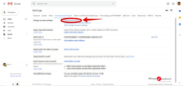 How To Change Gmail Password Easily - Step 4