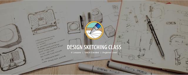 khóa học vẽ online design sketching dành cho người mới bắt đầu từ căn bản