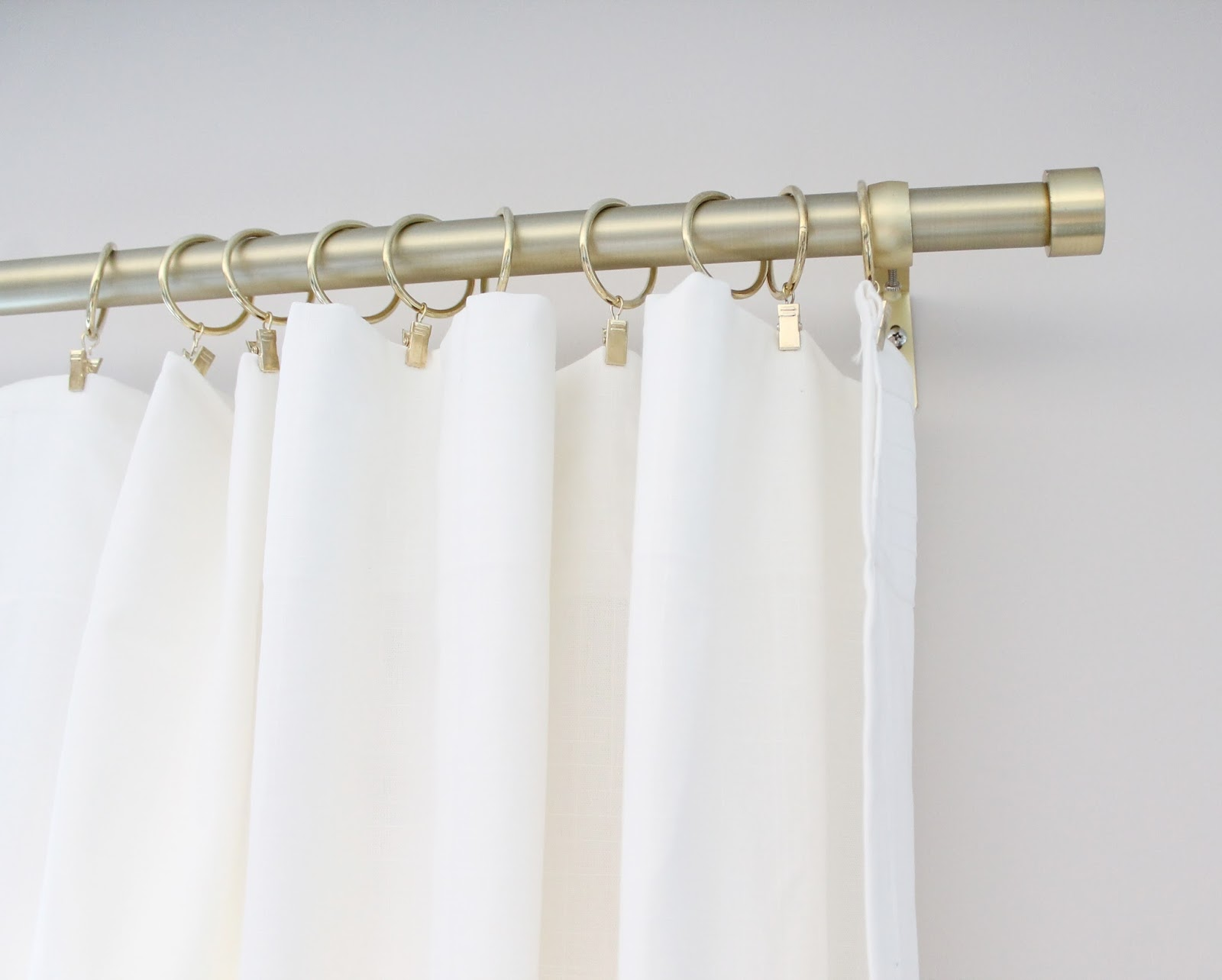 And Now On To The Best Part These Curtain Rods They Are Umbra Ca Brushed Br I Love Them Very Similar From West Elm