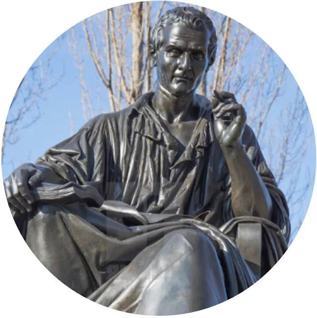 J.J. Rousseau  (1712-1778)    Jean-Jacques Rousseau adalah seorang filsuf, penulis, dan komponis Jenewa berkebangsaan Perancis, menyetujui konsep bentuk sosial dari Hobbes. Filsafat politiknya memengaruhi kemajuan ideal & pencerahan di seluruh Eropa, serta aspek-aspek Revolusi Prancis dan perkembangan pemikiran politik, ekonomi, serta pendidikan modern.