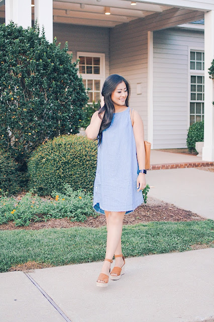 Jadoregrace.com // Casual Blue Dress with PinkBlush
