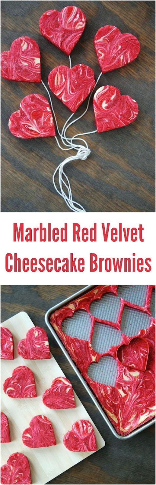 MARBLED RED VELVET CHEESECAKE BROWNIES