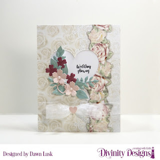 Divinity Designs Stamp Set:Festive Favors Tags Sentiments, Paper Collection:  Romantic Roses, Custom Dies: Festive Favors