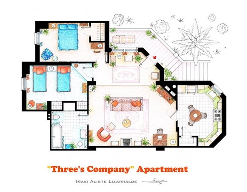 12-Three-S-Company-Jack-Tripper-Janet-Wood-And-Chrissy-Snow-Apartment-Floor-Plan-Inaki-Aliste-Lizarralde