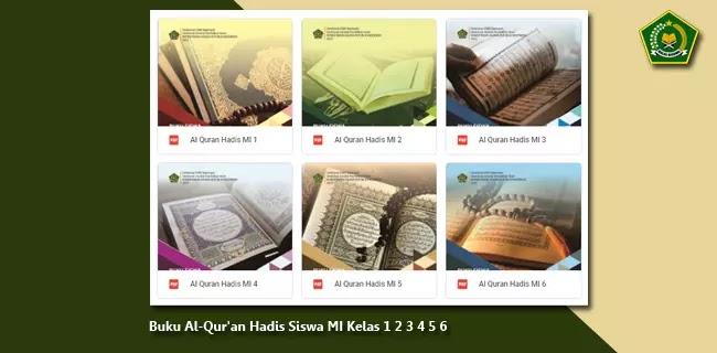Buku Al-Qur'an Hadis Siswa MI Kelas 1 2 3 4 5 6