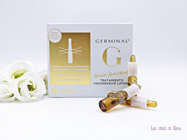 Tratamiento Progressive Lifting ampollas Germinal efecto tensor antiaging beauty dermocosmética farmacia skincare belleza