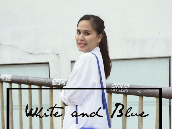 Outfit Sunday: White and blue | First outfit diary 2015!