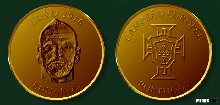 Meme com Medalha Comemorativa da Conquista do Euro 2016 pela Seleção Nacional de Portugal – Eduardo