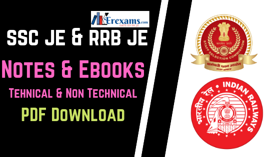 SSC JE, RRB JE 2019 Notes, Books Free Pdf Download | ErExams