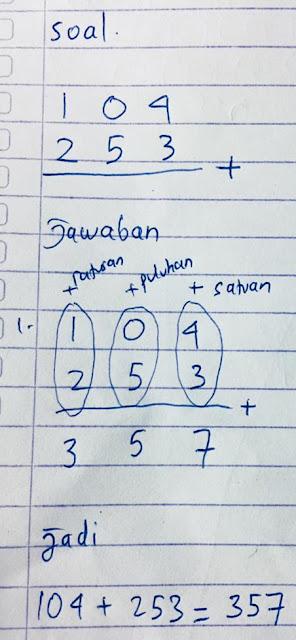 menjumlah dengan cara susun - matematika kelas 2 SD