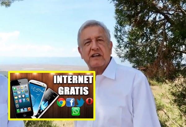 VIDEO: AMLO promete internet libre y gratuito para todo el país