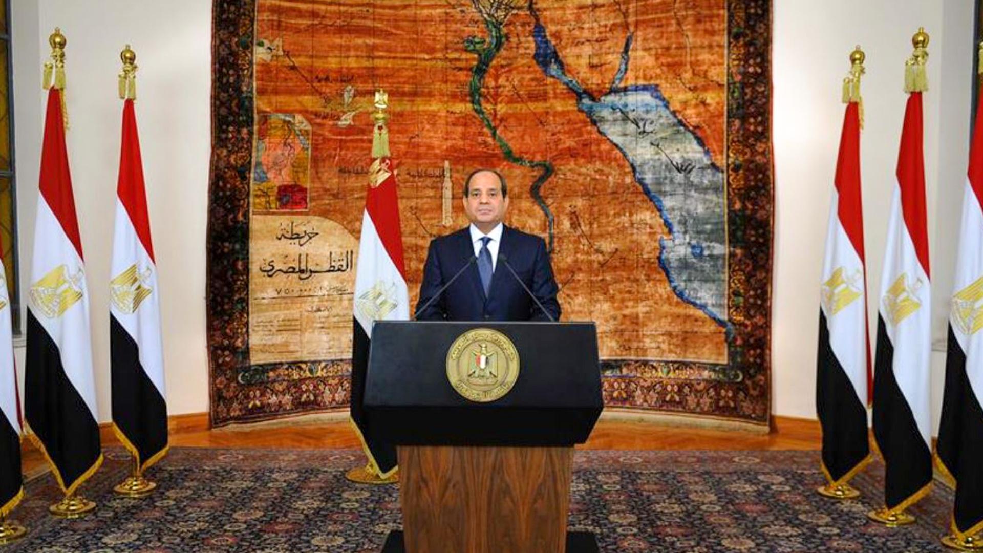 السيسي يؤكد أمن مصر Egypt خط أحمر خلال احتفالية مبادرة حياة كريمة من استاد القاهرة