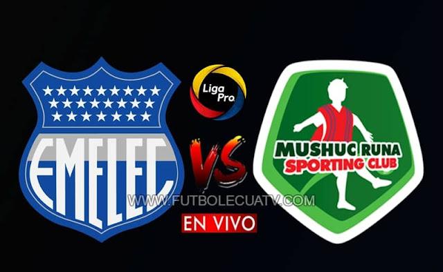 Emelec recibe a Mushuc Runa en vivo desde las 19h15 horario local, siendo el último encuentro de la fecha 6 del torneo doméstico, siendo emitido por GolTV Ecuador en el estadio George Capwell de Guayaquil, teniendo como juez principal a Mario Romero.