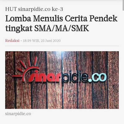 Lomba Menulis Cerpen Tingkat SMA/MA/SMK | Tema Bebas | Berhadiah Uang Tunai Jutaan Rupiah