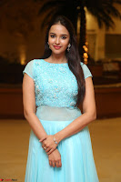 Pujita Ponnada in transparent sky blue dress at Darshakudu pre release ~  Exclusive Celebrities Galleries 015.JPG