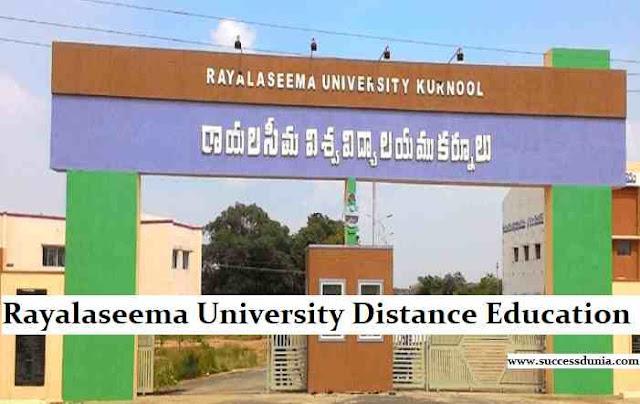 Rayalaseema University Distance Education