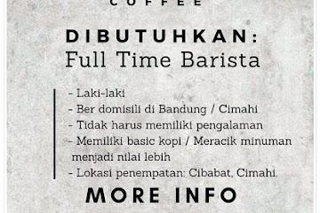 Lowongan Kerja Full Time Barista Kalbu Coffe