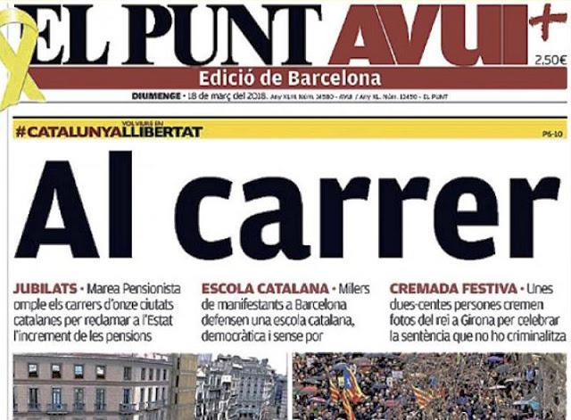 Desde este Diario se llama a los separatistas a lanzarse a la calle (Foto de Internet)