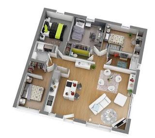 Desain Denah Rumah Modern