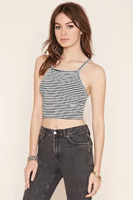 Striped cropped cami, $6.90 from Forever 21