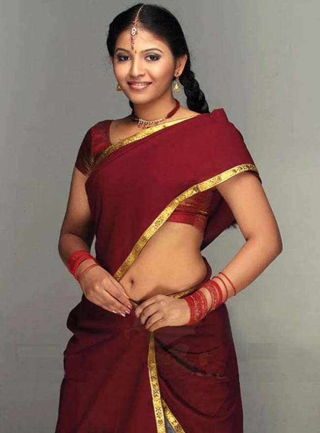 Tollywood Actress Navel Hip Show Stills Anjali
