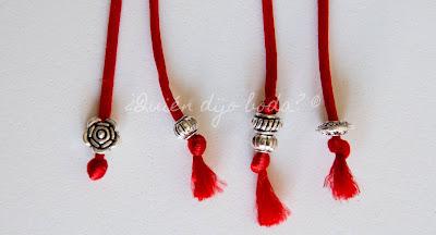 Hilos rojos con remate para Ceremonia del Hilo Rojo del Destino de ¿Quién dijo boda?
