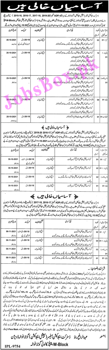 District Education Authority Gujranwala Jobs 2021