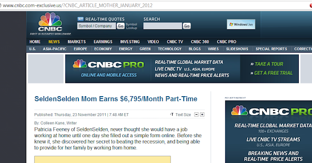 Fake CNBC's Website for Internet Fraud
