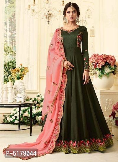 Designer Silk Embroidered Salwar Suit with Dupatta Online Shopping | Embroidered Salwar Suit Online Shopping | Best Salwar Suit For Women |